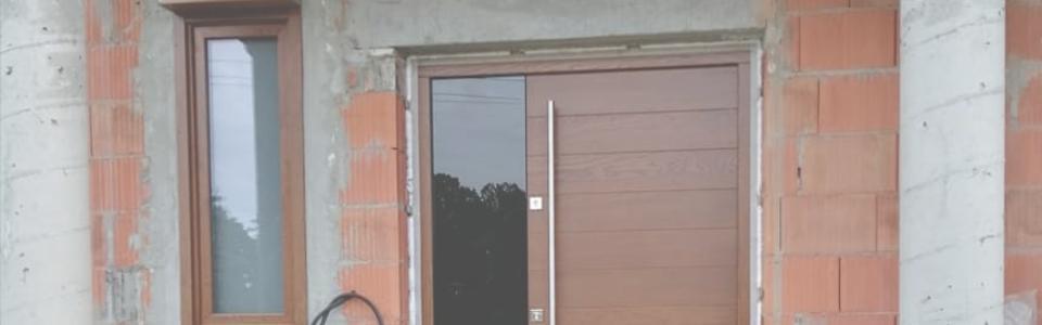 Drzwi naścianie wstanie surowym
